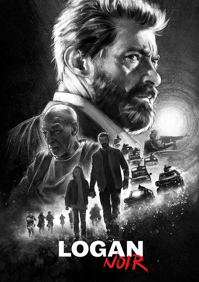 Logan wolverine movie poster tshrit