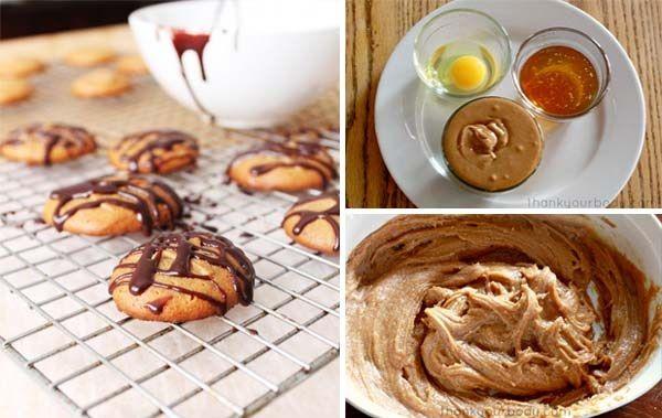 Arašídové sušenky ze třech ingrediencí a bez mouky