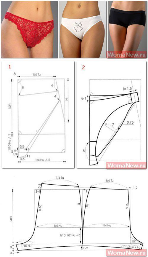 Patterns of female panties | WomaNew.ru - sewing lessons!