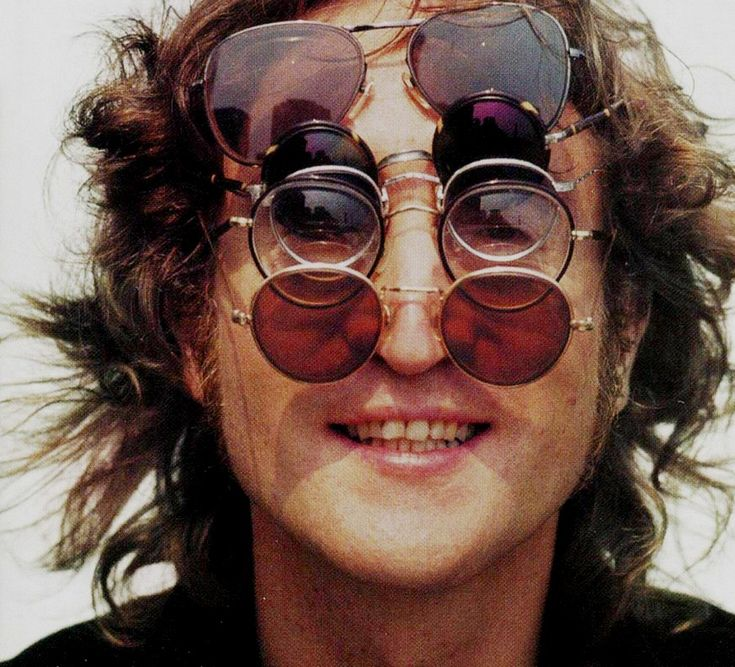 John Lennon's eyesight was so poor that he was legally blind without his glasses.