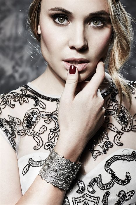 """Leah Pipes from the show the """"Originals"""" wearing Venice Cuff, Sterling Silver Plated"""