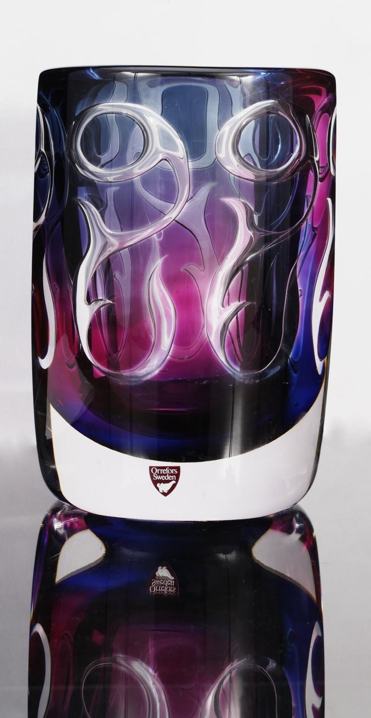 ** Olle Alberius (Swedish, 1926-1993), Orrefors, Ariel Glass Vase.