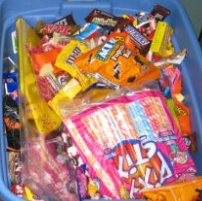 Watch for Halloween buy back programs at local dentist offices - donate candy to troops, save your teeth, and talk about kindness!