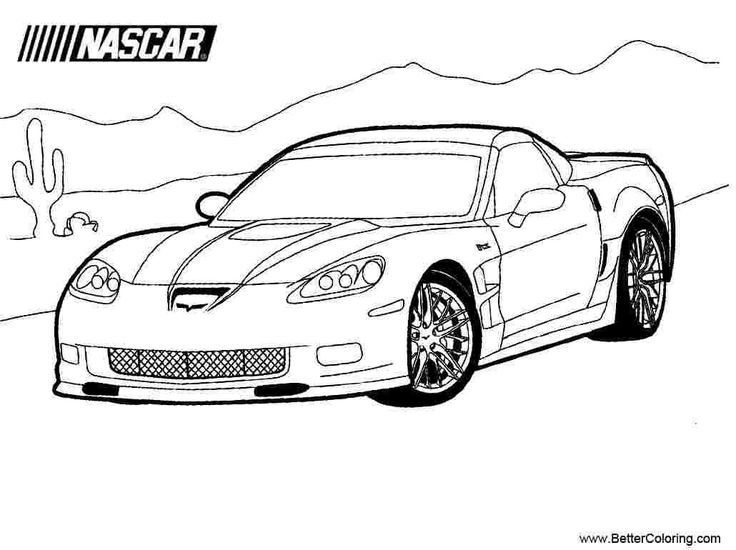 Nascar coloring pages 2017 nascarcoloringbook