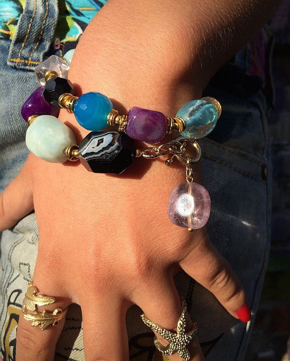 Chain gemstone bracelet the magic of powerful от Monamibijoux