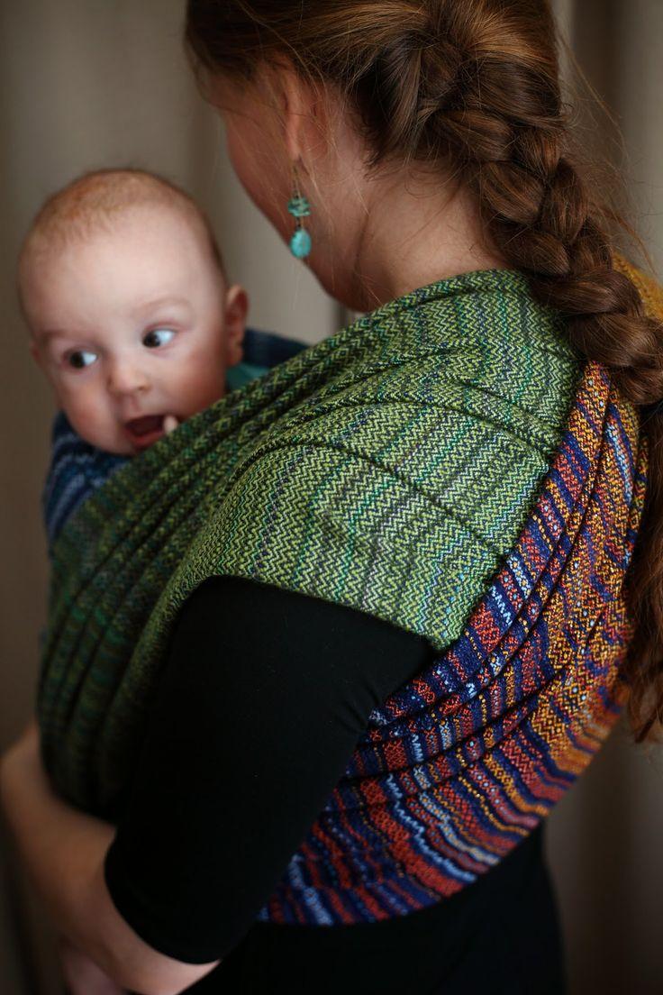 Handwoven baby wrap. Alpaka/Silk-Cotton