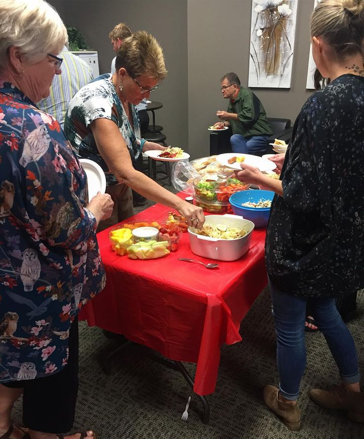 Office potluck yesterday! We are so good at multi-tasking!   #remaxsprucegrove #potluck #delicious #remax #sprucegrove