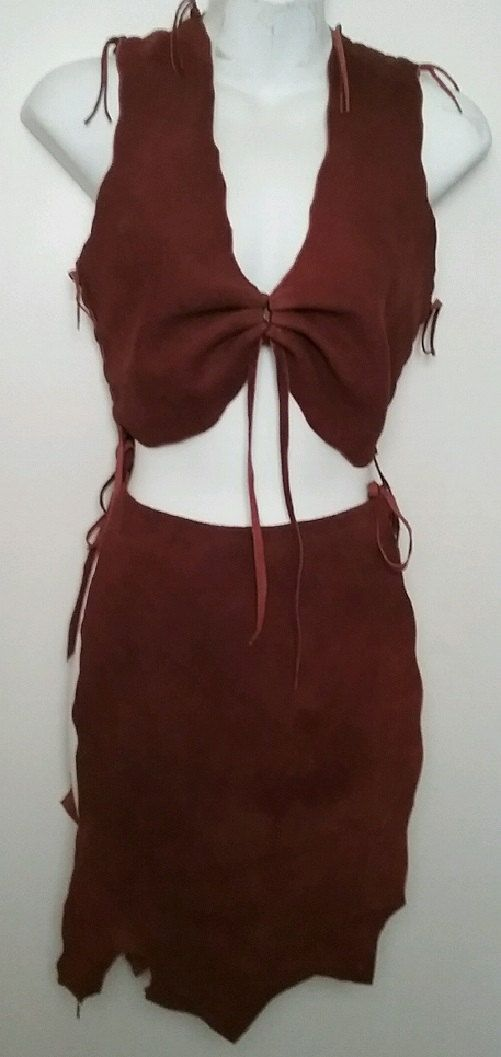 Leather Primitive 2 Piece Dress TARZAN AND JANE Fairy by dleather