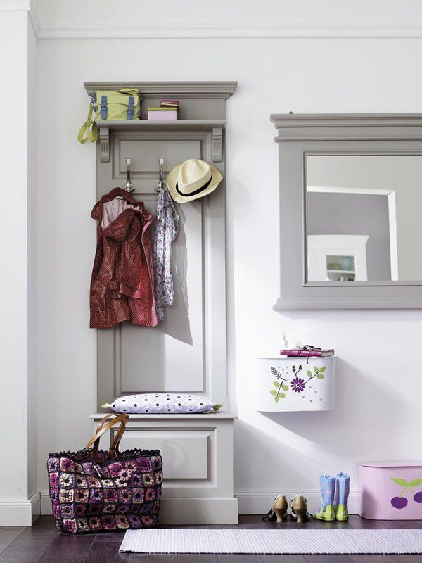 Ideas y muebles para decorar el #recibidor en #rosa, #gris y #verde