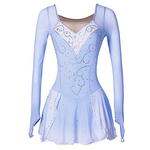 Figure Skating Dress Women's Girls' Ice Skating Dress Thermal / Warm Handmade Performance Skating Wear High Elasticity Spandex Dress Ice 2017 - $94.99