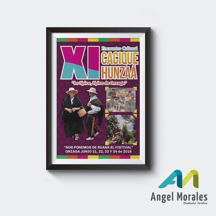 Afiche XI festival cultural cacique hunzaa