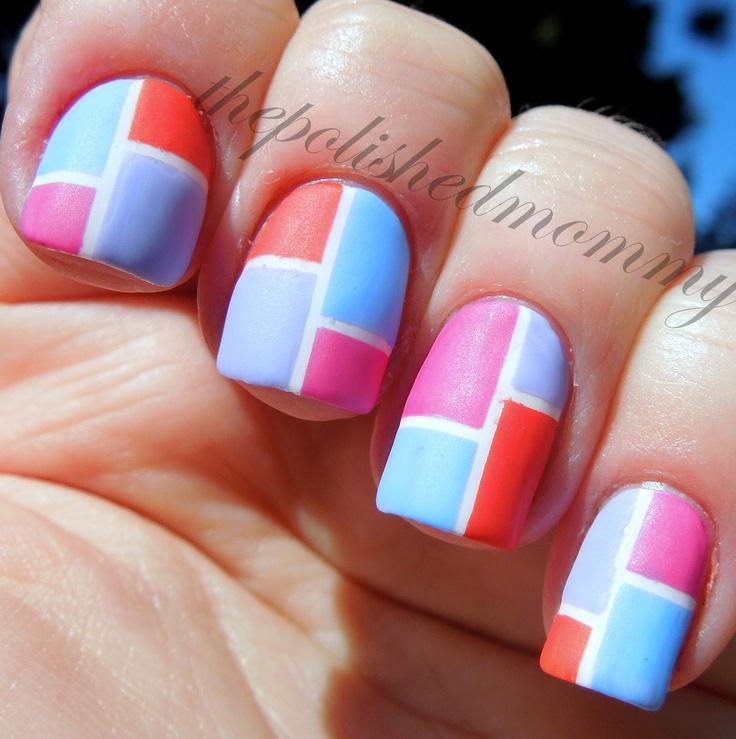 Blue Nail Polish The Block: Color Block Nails