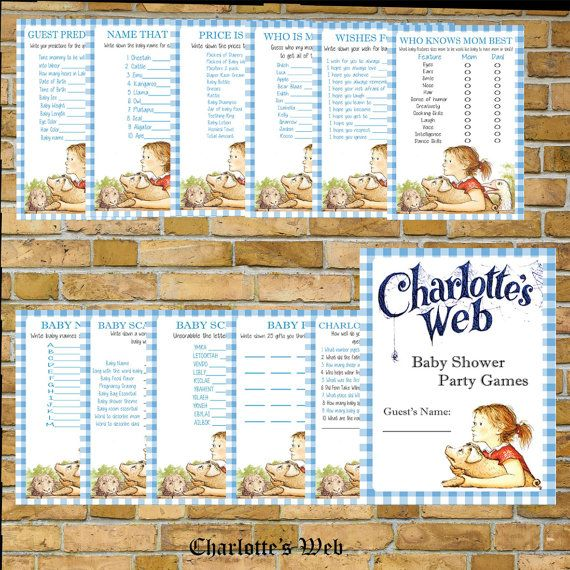 14 Best Charlottes Web Baby Shower Images On Pinterest