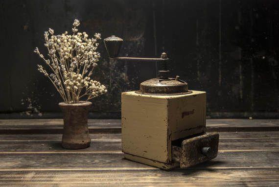 Rustic Coffee Grinder Antique pepper grinder Pepper Mill