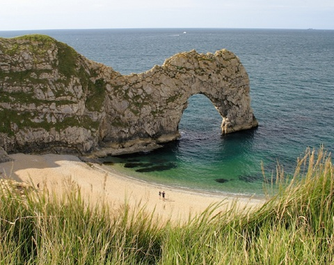 Durdle Door on Dorset's Jurassic Coast in England