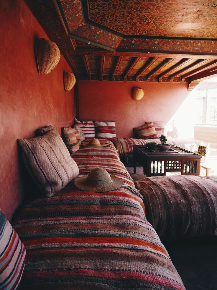 Hiding from the heat at Riad Jardin Secret - Morocco