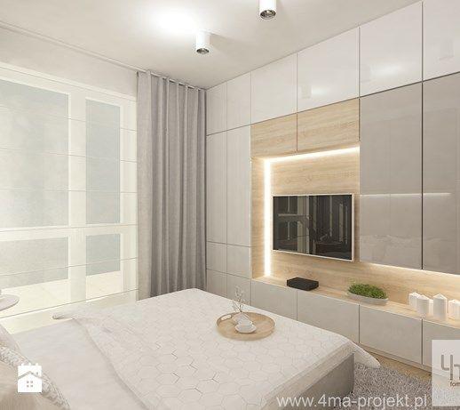 Aranżacje wnętrz - Sypialnia: Projekt mieszkania w Pruszkowie - pow. 52,5 m2…