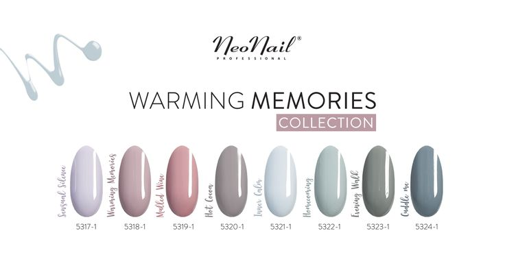 NeoNail - kolekcja Warming Memories (odcienie: Sensual Silence, Warming Memories, Mullet Wine, Hot Cocoa, Inner Calm)