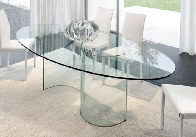 Tavoli Fissi -- Tavolo fisso di design totalmente in vetro Tonin Casa ...