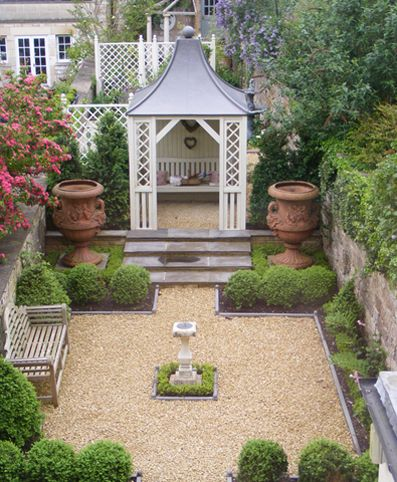 Gardens house interiors and garden design on pinterest for Georgian landscape design