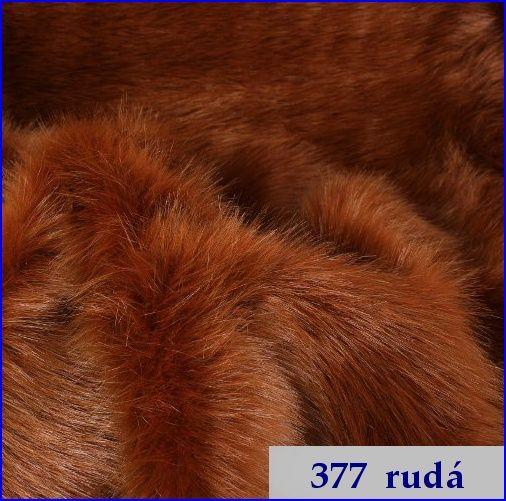Umělá kožešina Liška - rudá 377