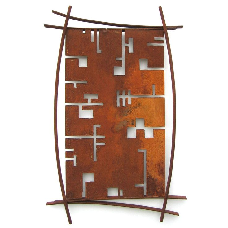 Metallic Evolution Outdoor Steel Shield Wall Art-Manaus SHD-02, Artistic Artisan Sculpture