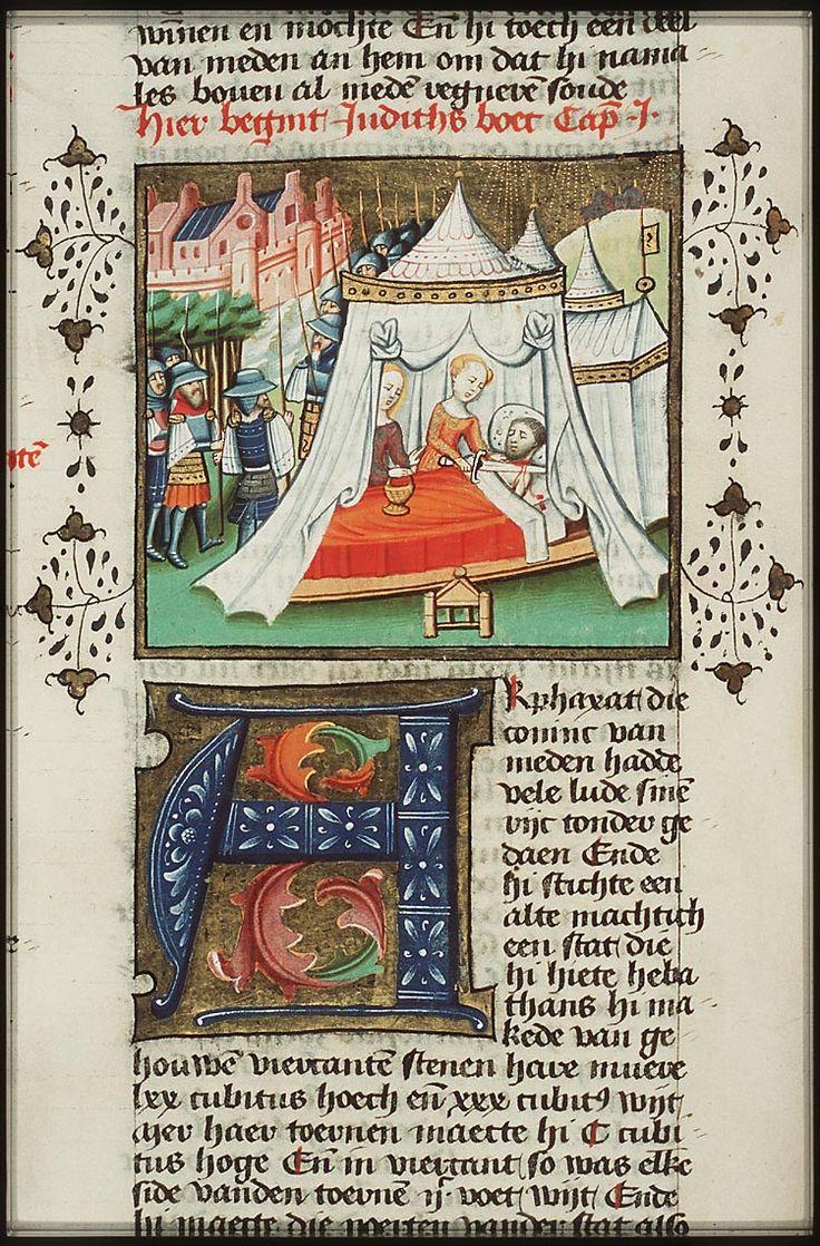 Holofernes met zijn eigen zwaard door Judith onthoofd / Holofernes beheaded by Judith with his own sword