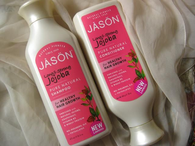 Jojoba Long and Strong by JASON. An amazingly effective natural shampoo and conditioner for your hair. No SLS or other harmful toxins. It also does not shed hair unnecessarily during and after shower! Scalp feels unharmed with a soft massage. Affordable and cruelty free as well. Highly recommended.