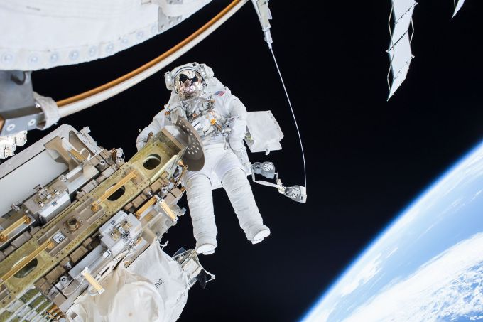 Watch NASA astronauts spacewalk to install a new dock for the International Space Station