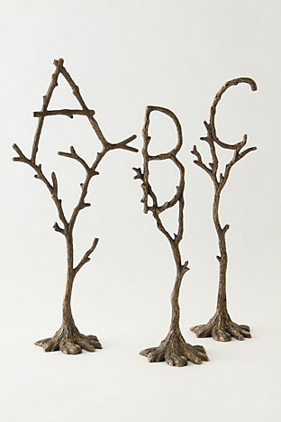 brass alphabet trees