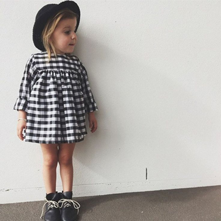 Black And White Gingham Dress Toddler Style Baby
