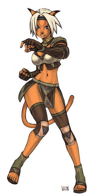 Final Fantasy XI: Mithra but wearing White Mage AF