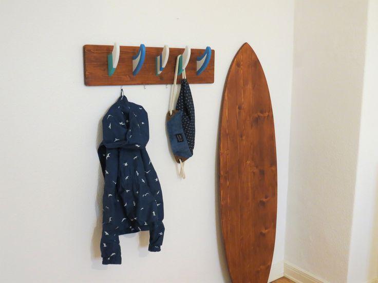 Deko Surfbrett + Surf Finnen Garderobe: Surf Möbel #surfstyle #hawaii #mädchen #Flur #Einrichtung #Deko #SurfDeko #DekoSurfboard #SurfboardDesign