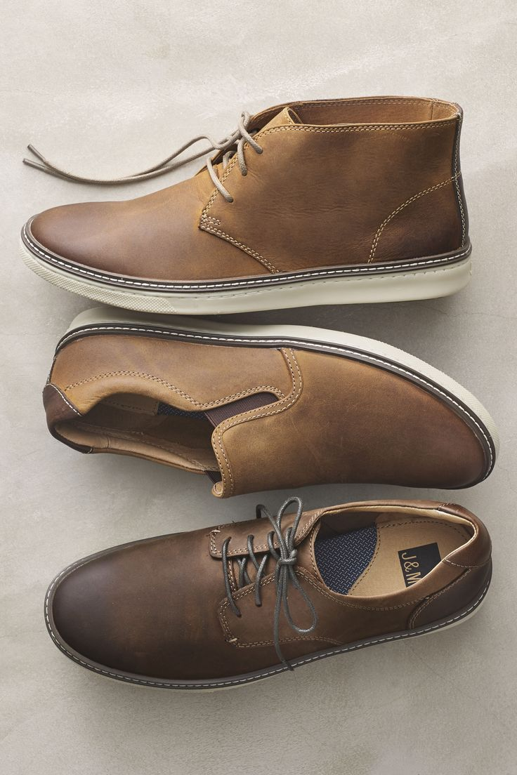 Casual Favorites: Skeletal leather lining creates a softer, deconstructed feel for comfort right out of the box.