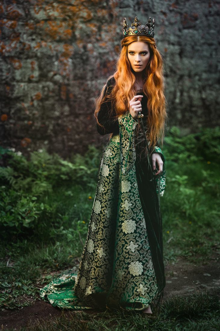 Ginger Queen By Black Bl00d Queen Aesthetic Medieval Dress Redhead Costume