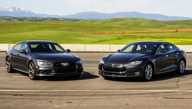 2016 Audi S7 and 2016 Tesla Model S 90D