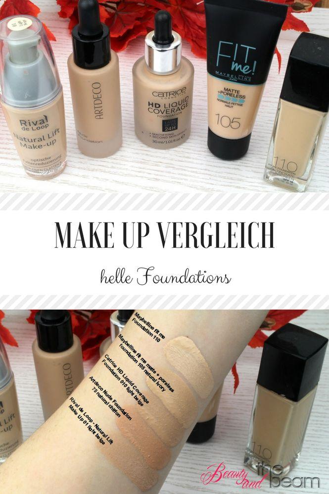 XL Make Up Vergleich – 5 helle Foundations im Test