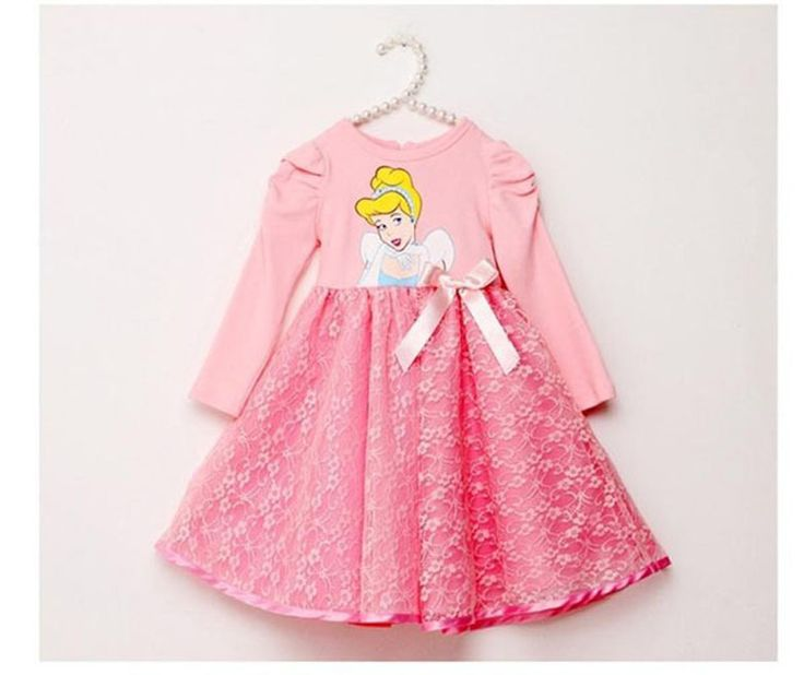 Autumn girl baby clothes dress lace 2016 snow White pattern lace girl baby clothes tutu dress autumn baby clothes dress for girl