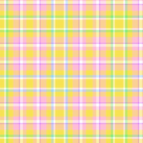 Yellow Easter Plaid fabric