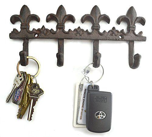 Find Fleur De Lis Home Decor, Furniture With A Charming Antique Brown, Cast  Iron Fleur De Lis Key Hook For The Entryway, Kitchen