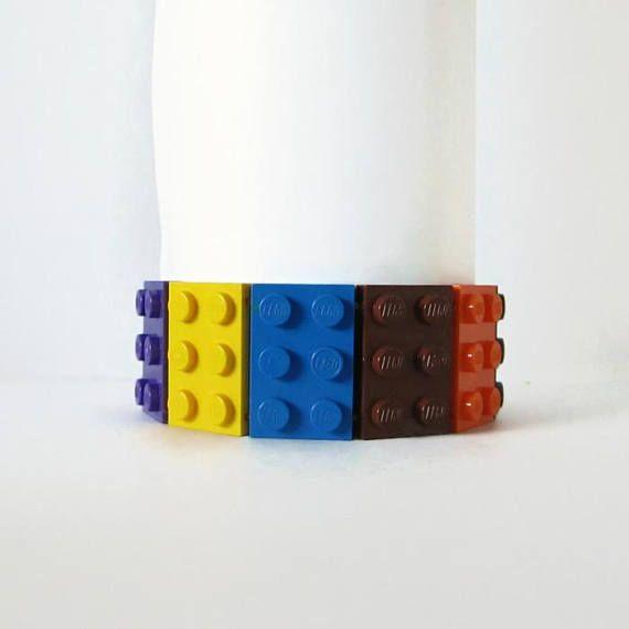 Colorful Bracelet from 2x3 LEGO Bricks Elastic Cuff
