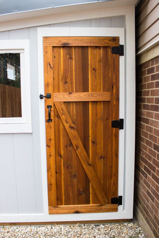 How To Build A Cedar Shed Door Diy Projects Tutorials