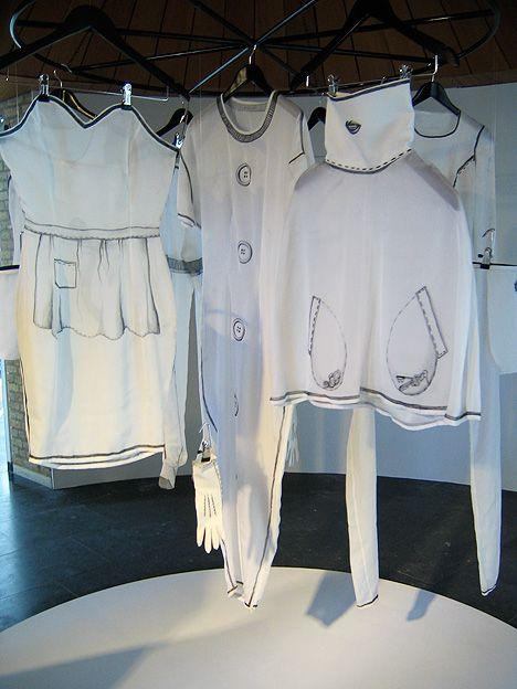Life imitates art when Karin Viktoria Bjurstrom creates cartoon trompe l'oeil clothing based on black and white animated films from the 1920s.