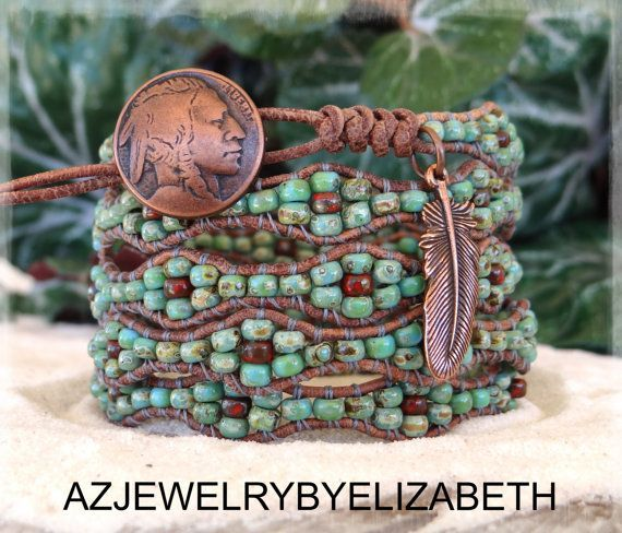 Check the way to make a special photo charms, and add it into your Pandora bracelets. Native American Wrap Southwestern Wrap by AZJEWELRYBYELIZABETH