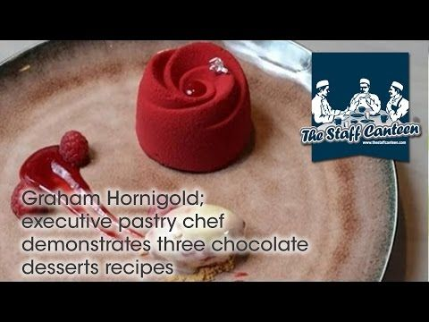 Graham Hornigold; executive pastry chef demonstrates three chocolate desserts recipes - YouTube
