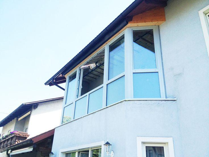 Balkon Schiebe-Fenster aus Kunststoff-Profilen
