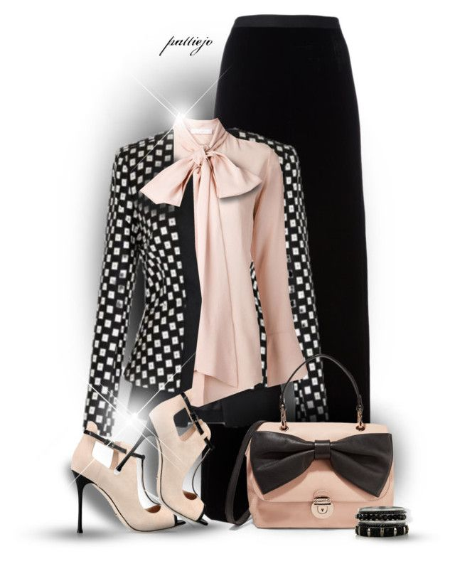 """""""Bow Bag Lady"""" by rockreborn ❤ liked on Polyvore featuring T By Alexander Wang, sass & bide, Chloé, Sergio Rossi, RED Valentino, bows, polyvorecommunity and polyvoreeditorial"""