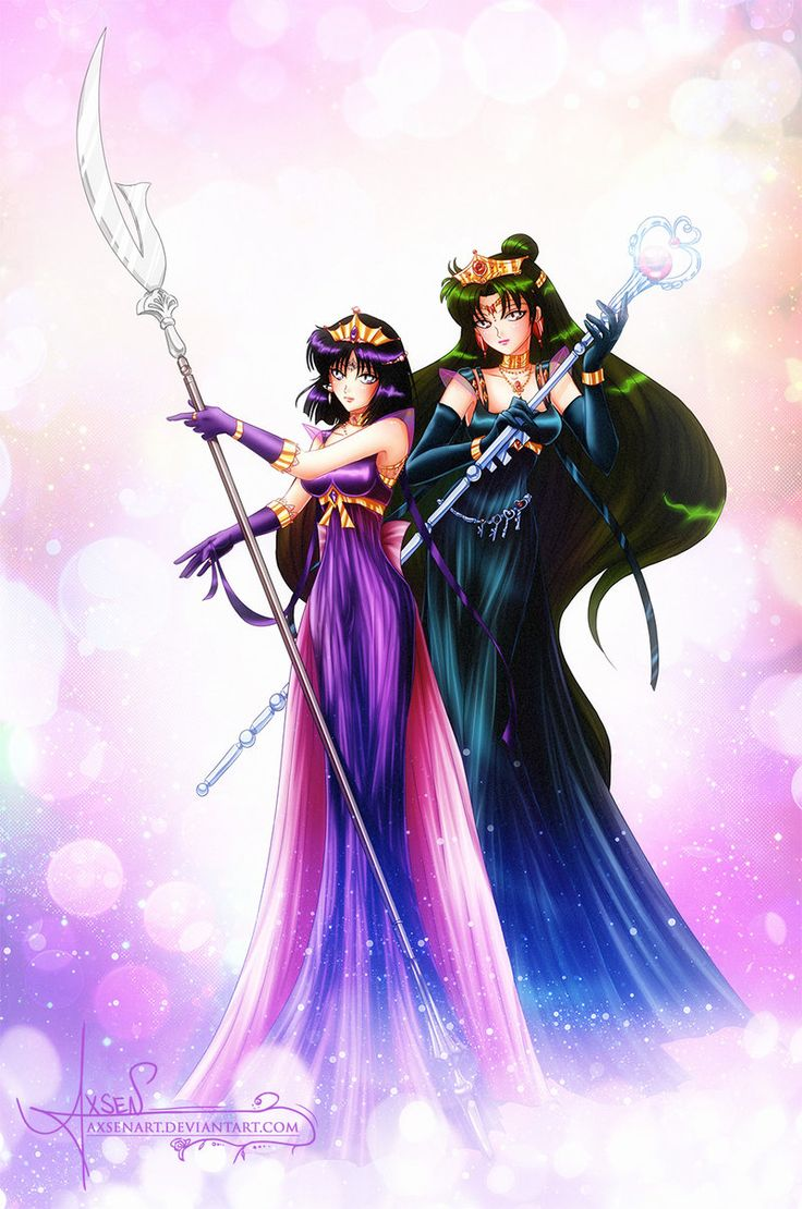 Neo Princess Pluto and Saturn by AxsenArt.deviantart.com on @deviantART