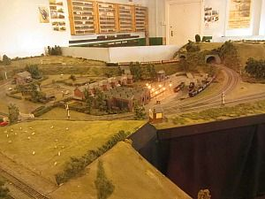 The model railway at Holt Station on the North Norfolk Railway