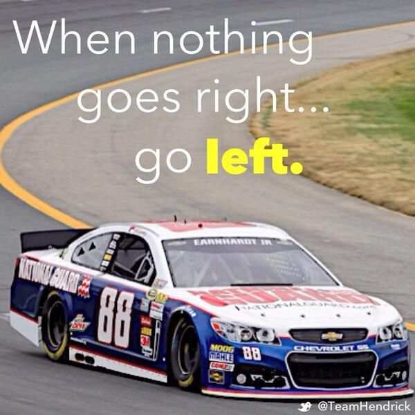 When nothing goes right... go left. Happy #LeftHandersDay from our resident left. #NASCAR